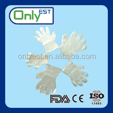 Daily use disposable food ldpe plastic gloves pe gloves manufactures