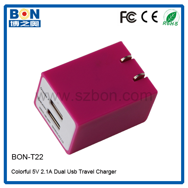 New design 5v 2a usb travel charger power adapter