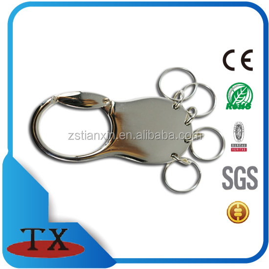 Durable Multi Ring Detachable Keychain detachable metal key ring with four key ring numbers