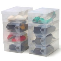 customize clear plastic shoe box