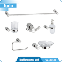 FARLO Good Quality Zinc Alloy Bathroom Accessories&Brass Stainless Steel Bath Accessories Sets