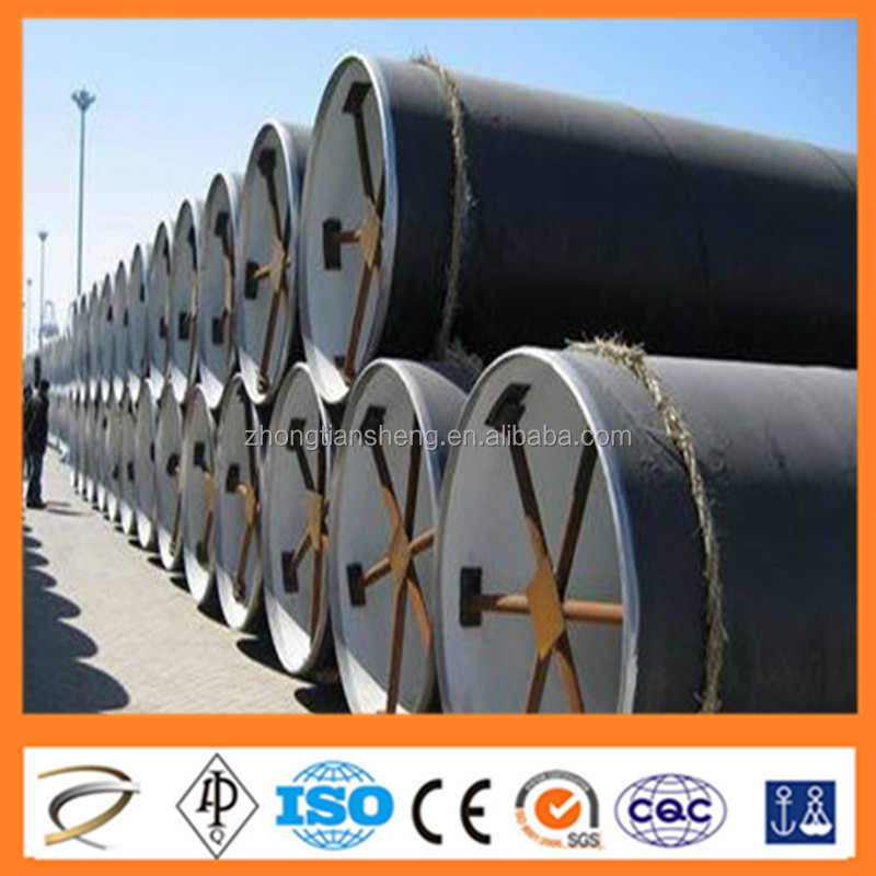 20G/A106c/ST45.8/3 GB5310-95 ASTMA106-99 DIN17175-79 3 layers polyethylene coated steel pipe China