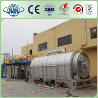 High performance used tire processing to diesel machine
