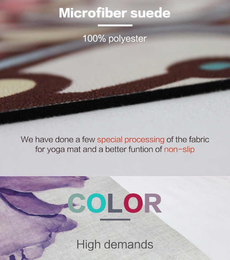 Top quality fashional eco friendly non slip natural rubber yoga mat manufacturer