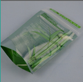 biodegradable one way valve mini custom clear printed stand up zip lock plastic bag