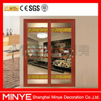 CHINA SUPPLIER ALUMINUM SINGLE TEMPERED GLASS SLIDING DOOR/ALUMINUM PROFILE FOR CLOSET DOOR DOUBLE TEMPERED SAFETY GLASSES