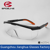 Industrial side shield protective safety glasses clear high impact lab protection goggles