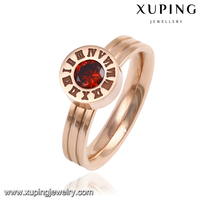 13891 xuping fashion jewelry crystal zircon can change wear finger ring with four colors
