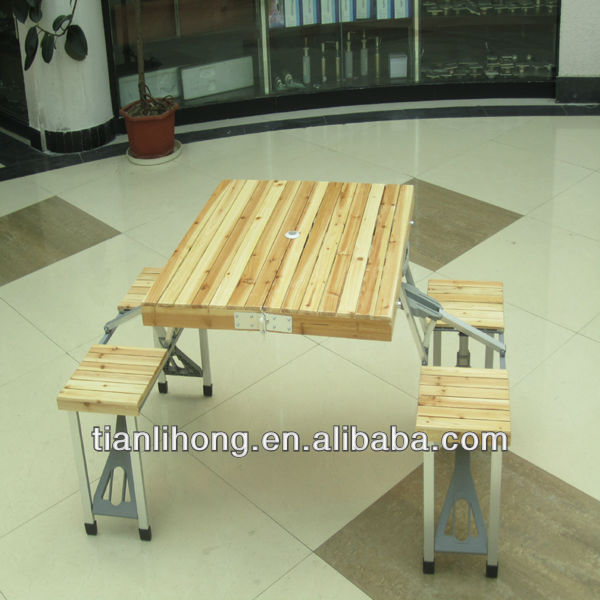 Cheap Folding Wood Picnic Table with Chair