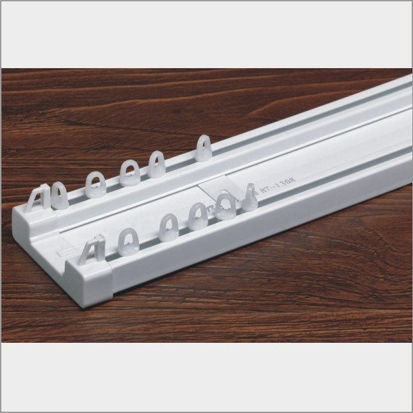 aluminum alloy or PVC twin curtain track to ceiling