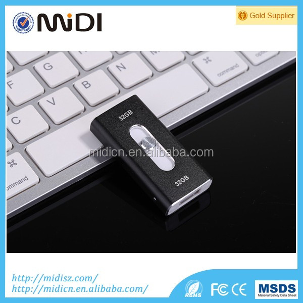 New Arrival 3 in 1 32GB Metal OTG USB Flash Drive usb flash drive for iPhone/android/PC