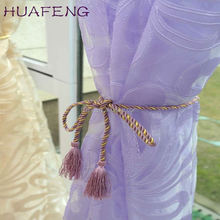 Huafeng Wholesale China White Organza White Embroidered Fancy Sheer Cafe Curtains