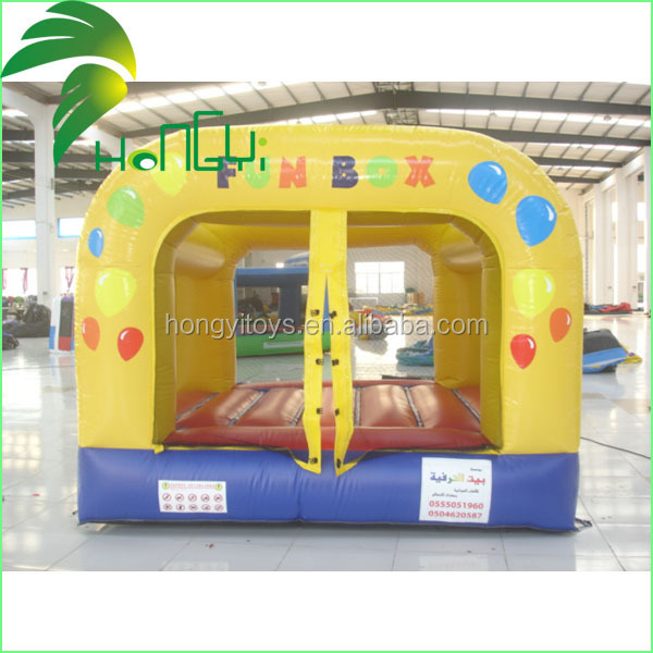 fun box inflatable trampoline for sale