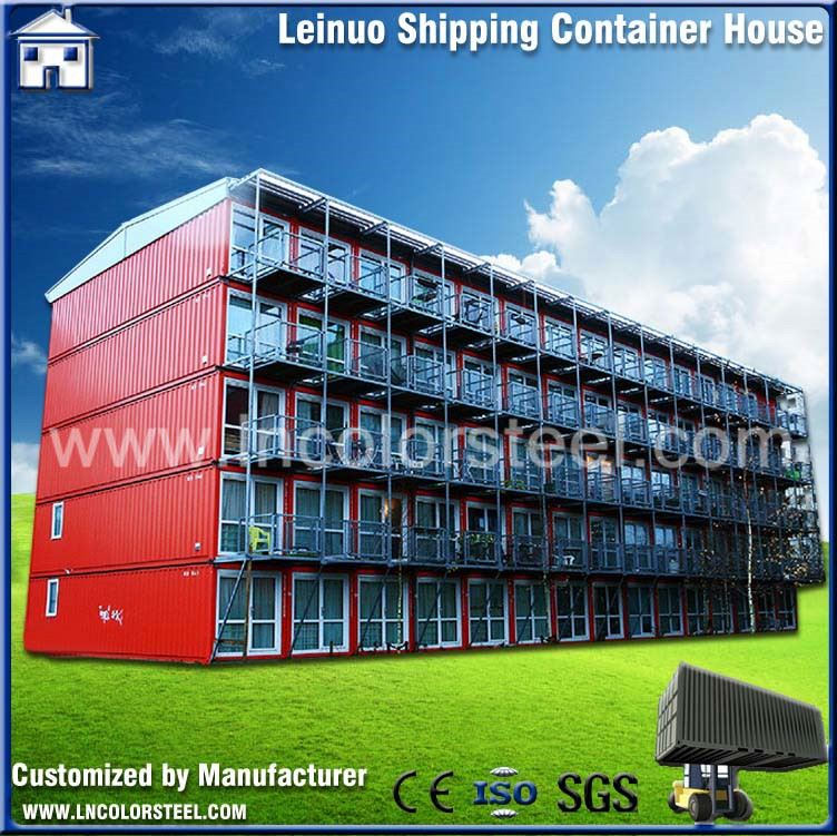 new type movable two story container house at discount