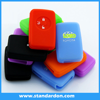 Colorful silicone car key for toyota car smart for Camry, high-handed, DORA