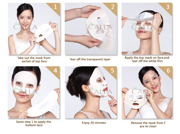 2017 new product clay facial mask sheet for face cleaning
