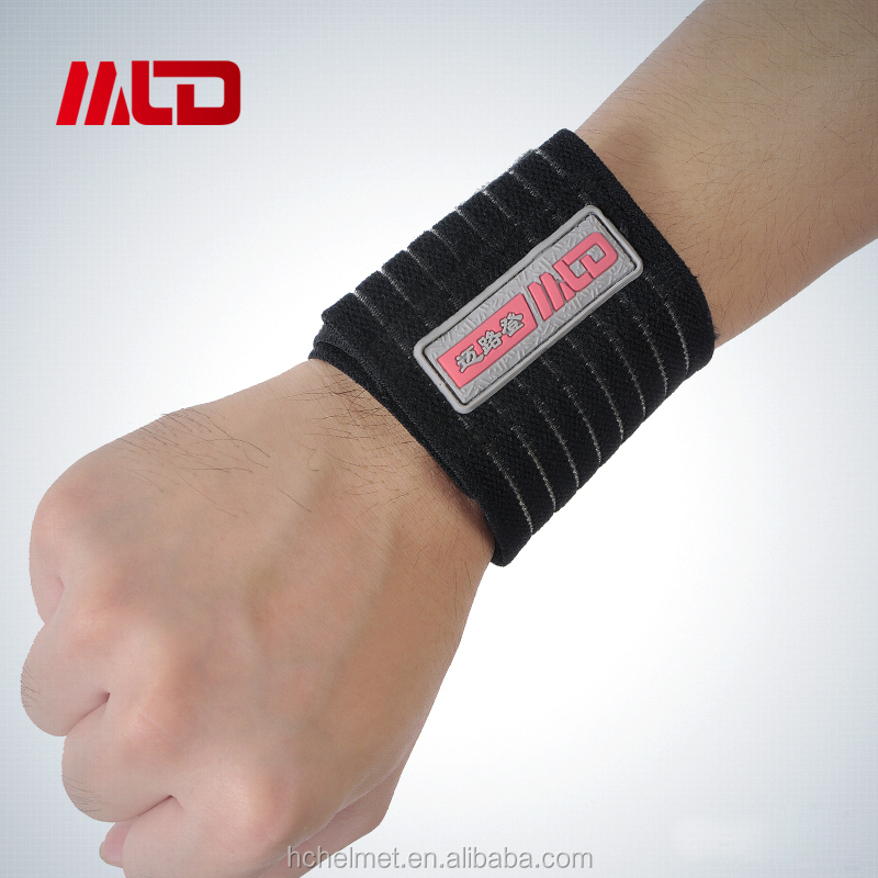 Hot Sell Adjustable Sport Fitness Training Wristband Elastic Wrist Band Bandage Support Sports Wrist Band With OEM Service