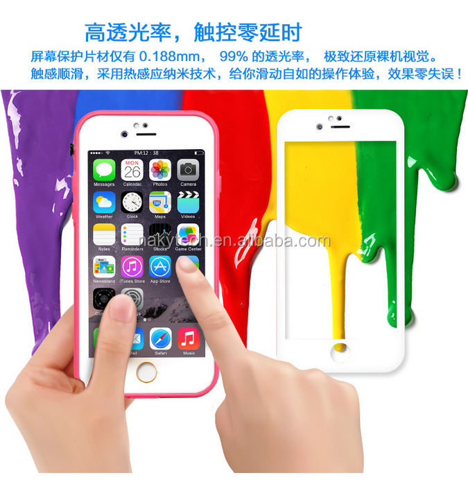 Wholesale china factory colorful PC add carbon fiber TPU edge waterproof cell phone case for iphone 6\6 plus