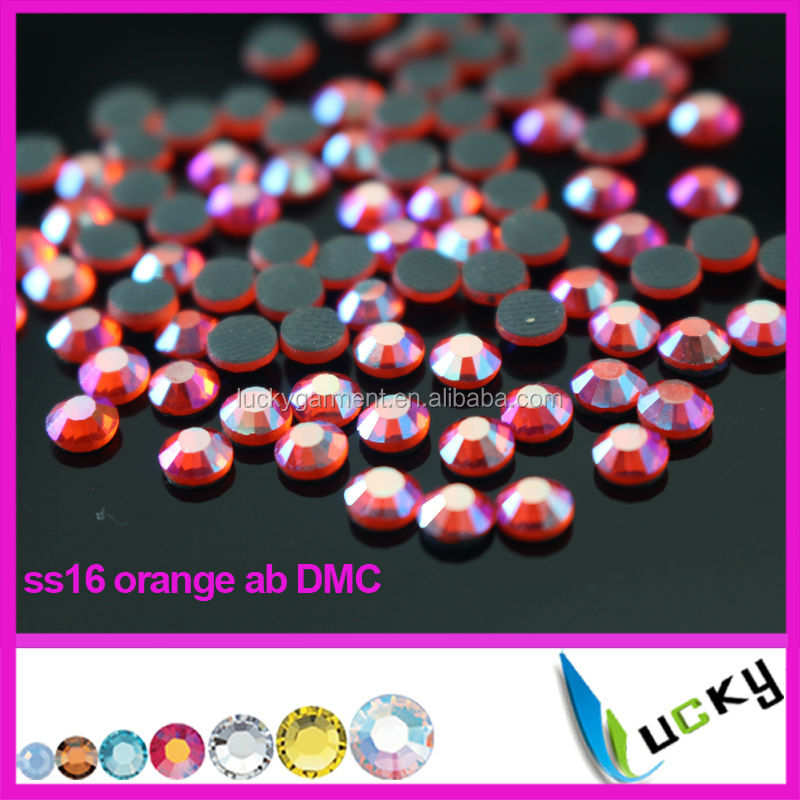 Highest quality Heat dmc hotfix rhinestone Copy swarov 2038 crystal ab Color Strass crystal beads for iron on transfers