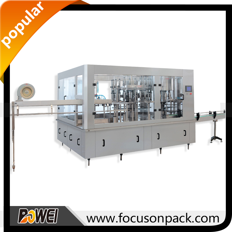 Automatic Piston Filler Automatic Liquid Packaging Machine Beer Bottling Line