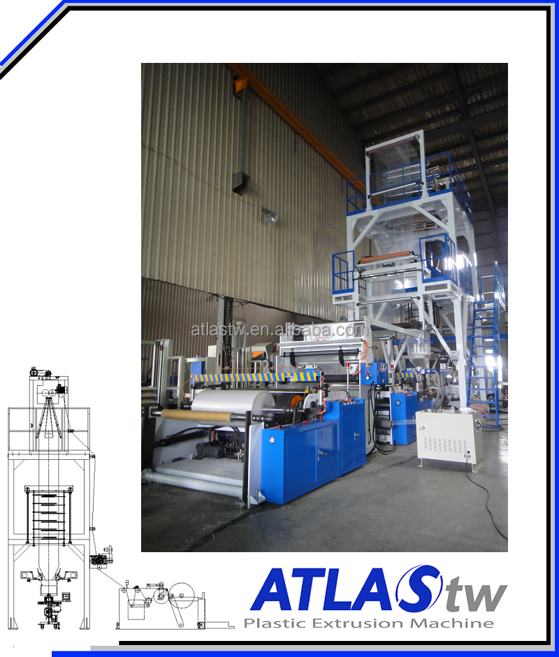 ATLAS Plastic Bag Co-Extrusion blow film machine