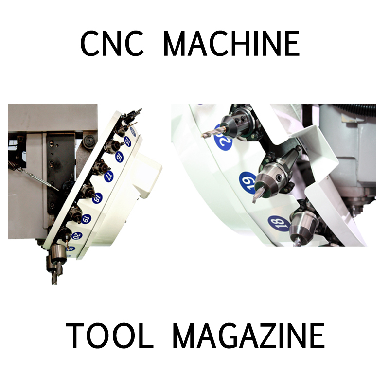cnc machining center vacuum pump round tool cutter magazine