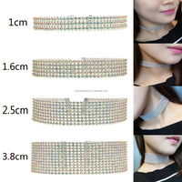Wholesale Clear Rhinestone Crystal Choker Necklace
