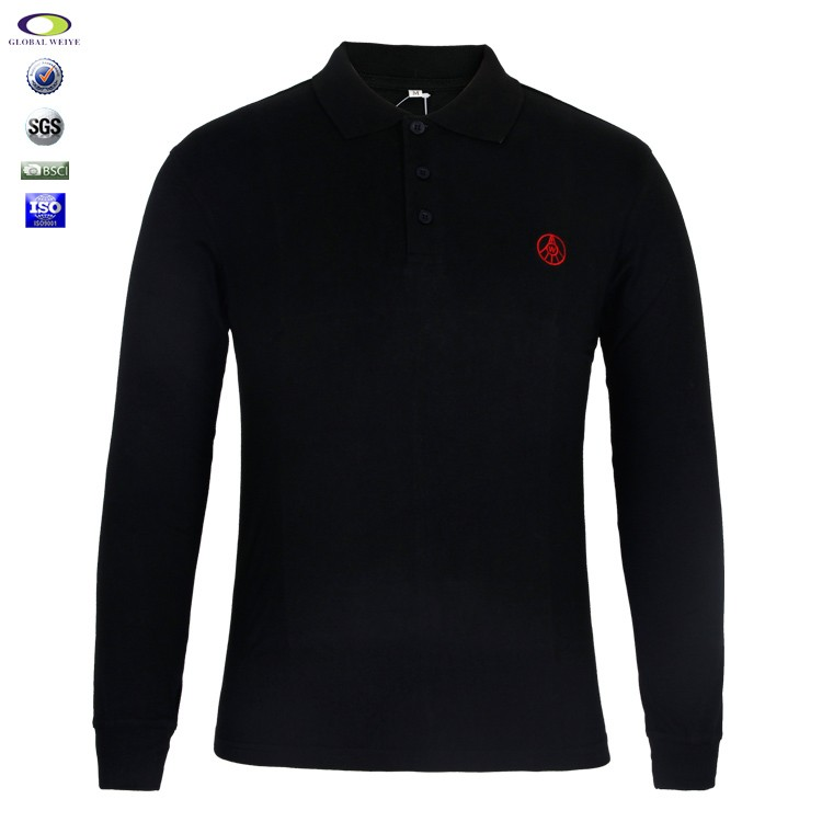Cheap wholesale mens long sleeve polo t shirt with