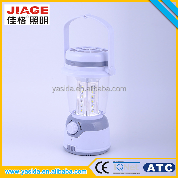 Latest multifunction 30 smd led rechargeable camping lantern with fan