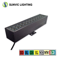 high power 50cm led wall washer light ip65 36w 24w 2400lm rgb dmx wall wash
