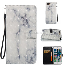 For Iphone 8 8S Plus 7 7S 6 6S 5 5S SE Touch 5/6 3D Marble Stone image Paint Flip Magnetic Leather Wallet Case Cover Phone Shell