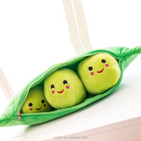 plush pea toy stuffed vegetable shaped body pillow