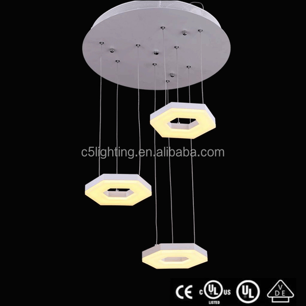 CE/VDE/UL/ROHES arylic matel round Led modern pendent lamp