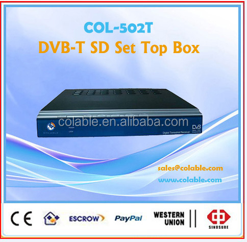 Set Top Box DVB-T COFDM ,MPEG2 Decoder TV Box COL502T