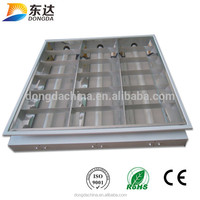 T8 Electronic Fluorescent Lighting Fixture With Grille Cover 3*18W