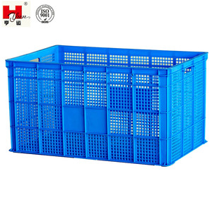 Warehouse Large Perforated Plastic Container Basket