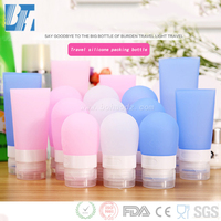 Custom Squeezed Travel Refilled Shampoo Silicone Packing Bottle Soft Portable Packing Press Bottle Cosmetic Container