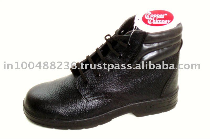 PU SOLE ANKLE LEATHER SAFETY SHOES (SFT-0829)
