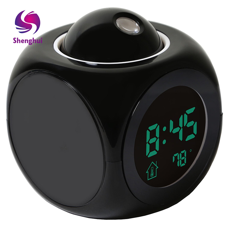 LED Wall/Ceiling Projection Alarm Snooze Temperature Display Bedside Alarm Clock