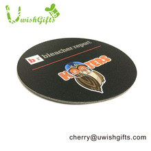 Round shape 1.5 mm thickness custom logo water absorbing paper drink coasters