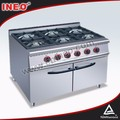 Gas Range Professional Commercial indoor propane stove
