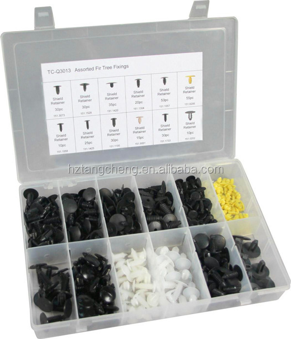Hot Sale Automotive Kit 340pc Auto Plastic Clips Fasteners Assortment of China