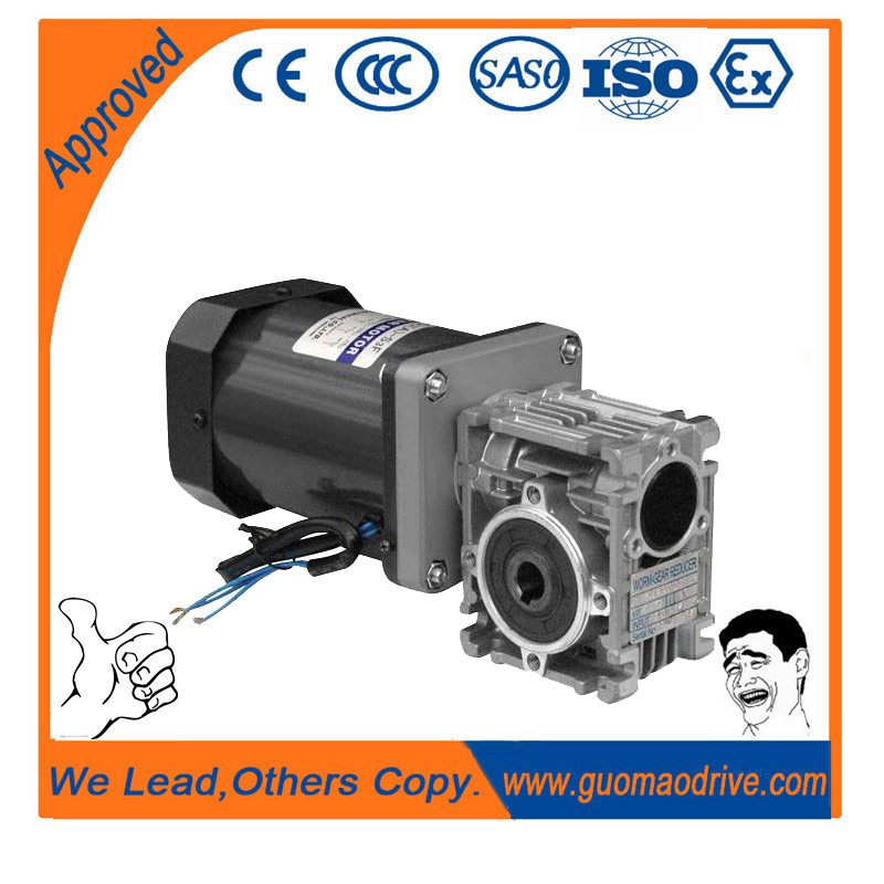 Hollow bore worm speed reducer motor gear drive