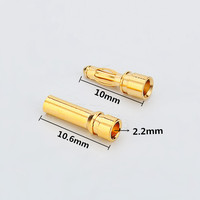 Female Male 2mm Gold plated bullet plug connectors for ESC motor RC lipo battery