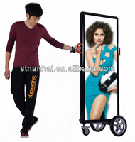 J2B-046 World famous Fashion design backlit outdoor battery powered signboards airport signboards for Thanksgiving Day promotion