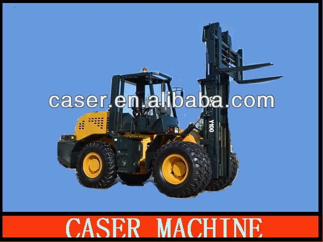 CE approved 4*4WD 10ton off-road forklifts truck CPCY100