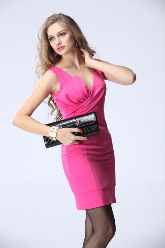 low moq good price fashion girls party dresses