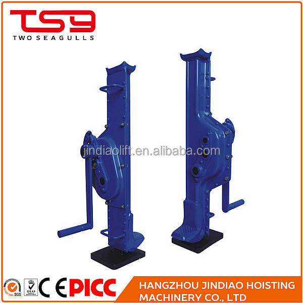 Hand crank lifting types car lifting mechanical jack