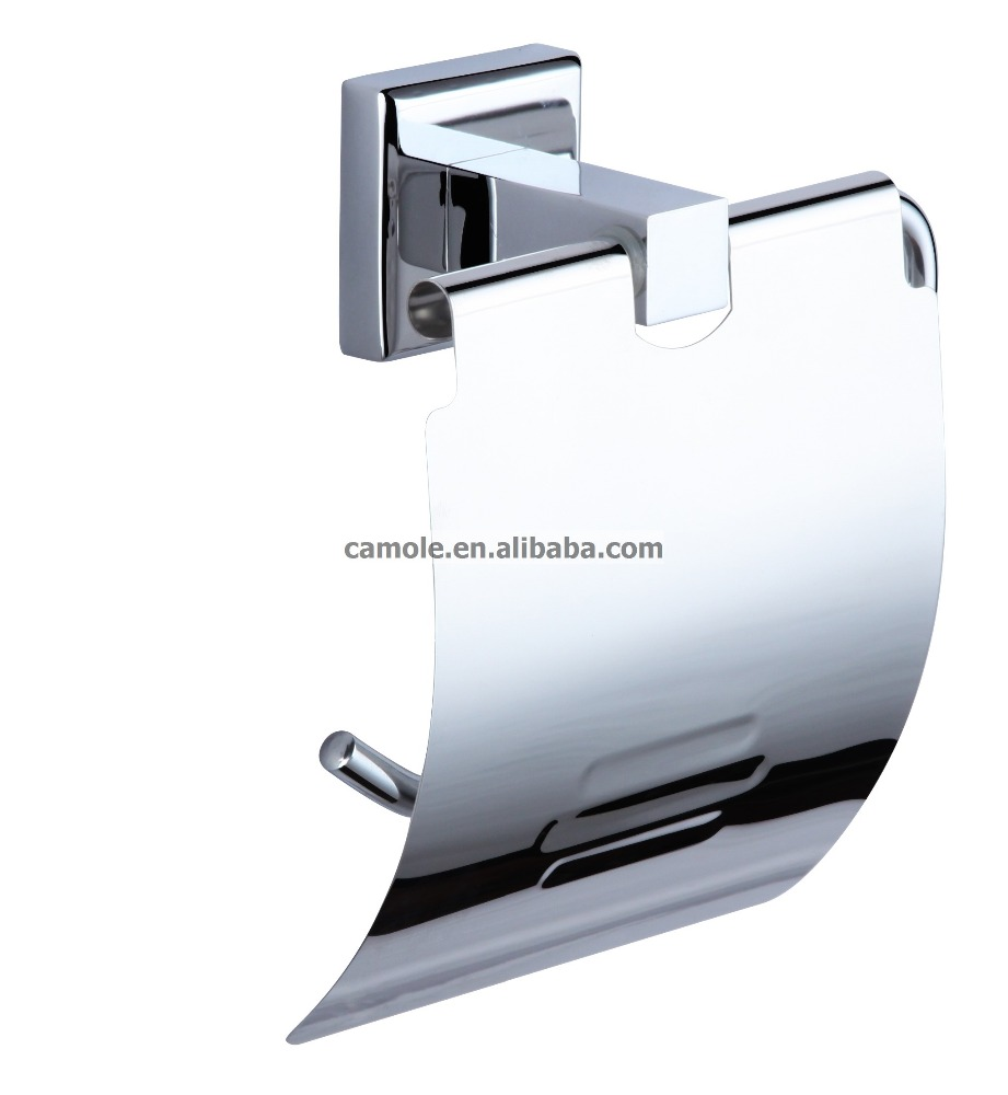 brass chrome finish paper holder ,bathroom hardware product,wall mounted