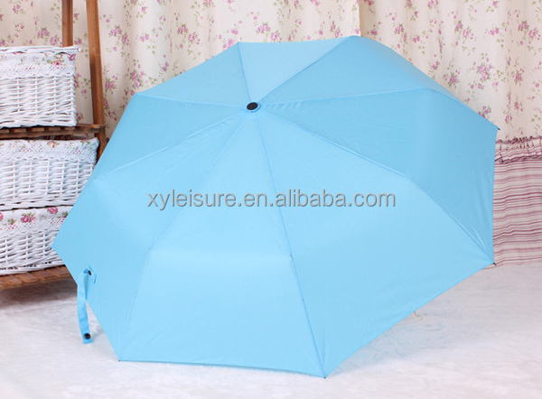 high quality solid color foldable umbrella